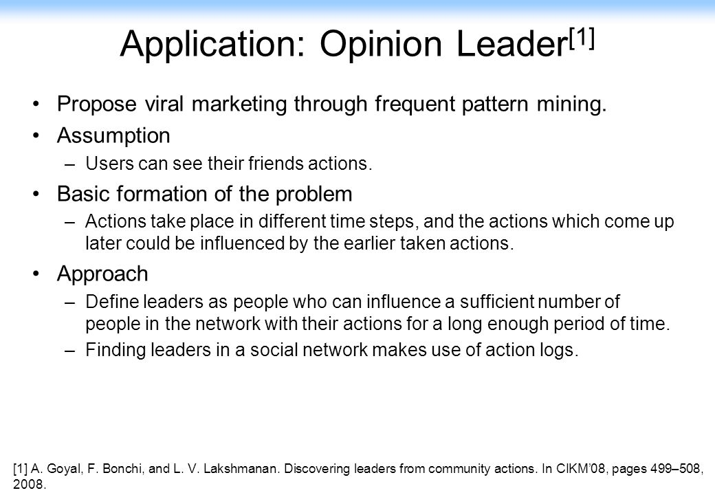 Application: Opinion Leader[1]